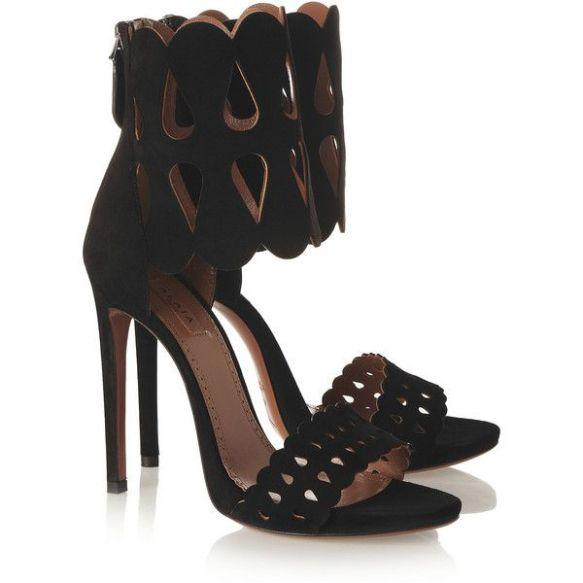shoe - miracle - alaia - suede - cutout - sandal