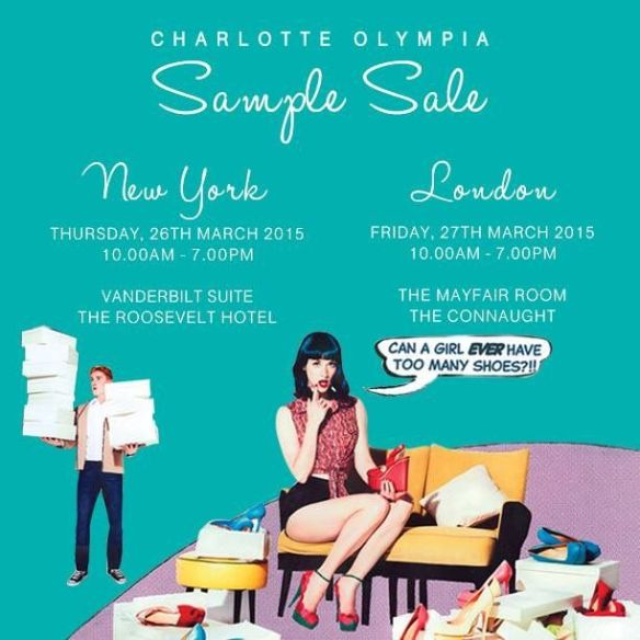 charlotte olympia sample sale new york and london hot girls wallpaper. Black Bedroom Furniture Sets. Home Design Ideas